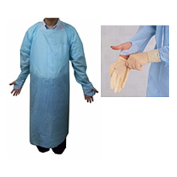 CPE Disposable Apron w/ Thumb Hole