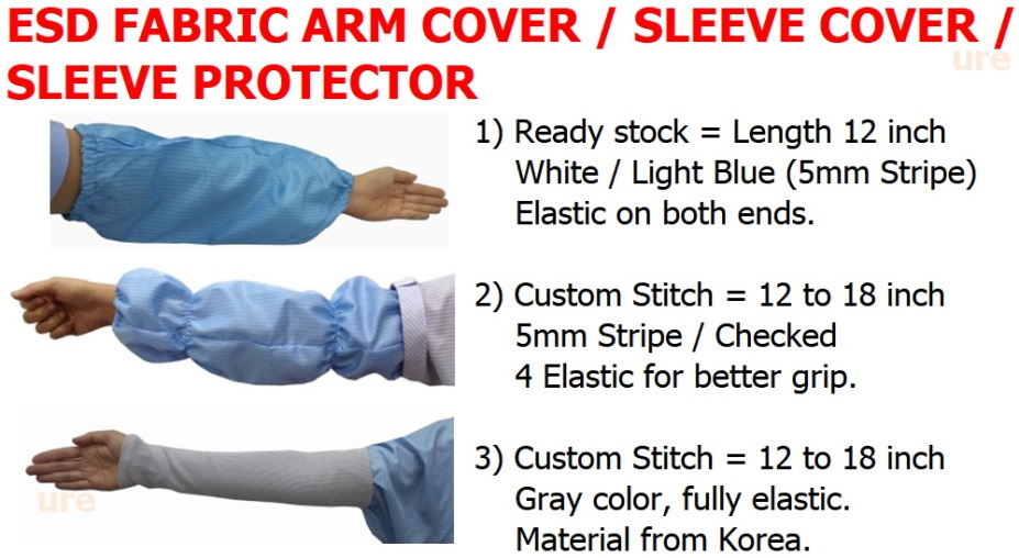 esd fabric arm cover / sleeve cover / sleeve protector