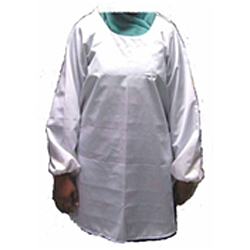 Cleanroom ESD Apron with Long Sleeve